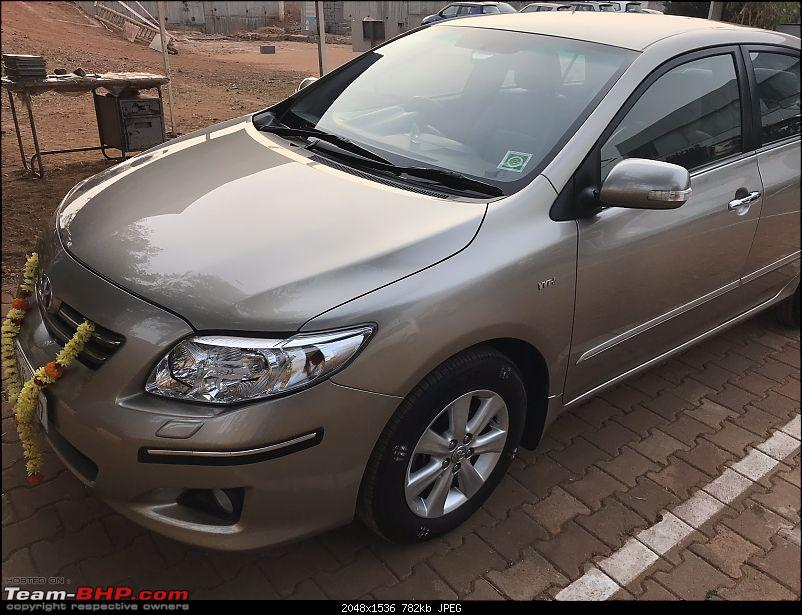 2009 Toyota Corolla Altis 1.8 GL - 74,000 kms 9th year ownership report-front-left.jpg