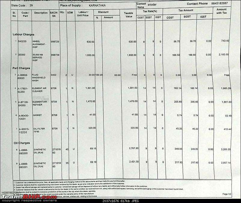 Toyota Innova Crysta ownership report. EDIT: Engine replaced (page 9)-crysta-30k-service_1cropped.jpg