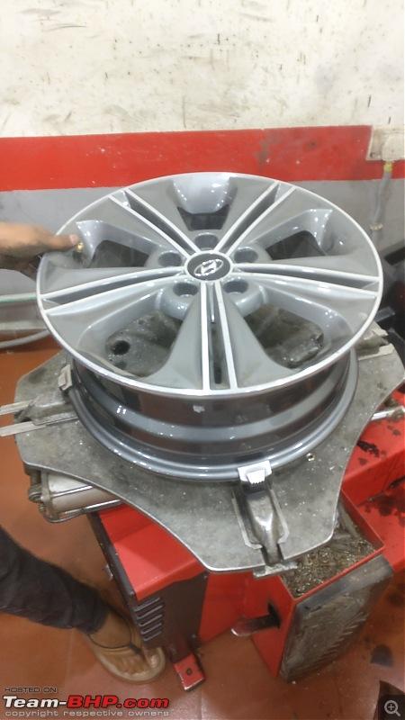 Hyundai Creta 1.6L CRDi SX(O) - An Ownership Log - Update: 1,00,000 km up!-1.-tyre-removed.jpg