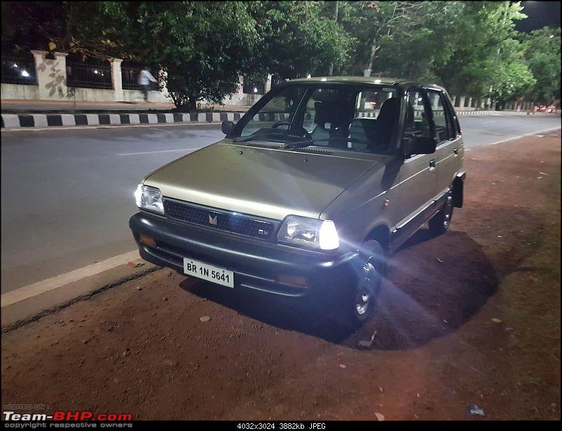 The love of my life - A 2000 Maruti 800 DX 5-Speed. EDIT: Gets export model features on Pg 27-20180420_185159.jpg