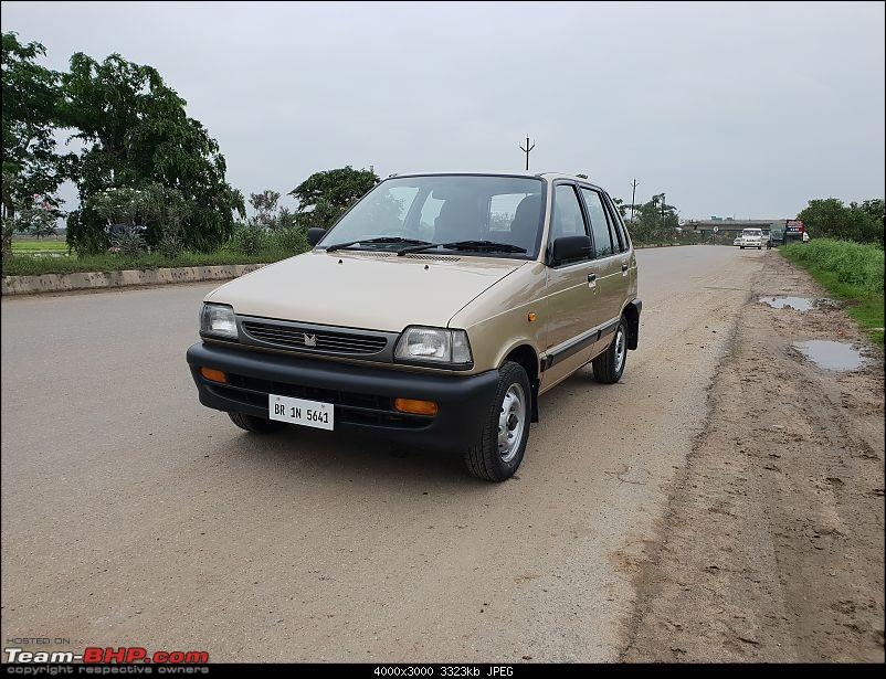 The love of my life - A 2000 Maruti 800 DX 5-Speed. EDIT: Gets export model features on Pg 27-20180801_180313.jpg