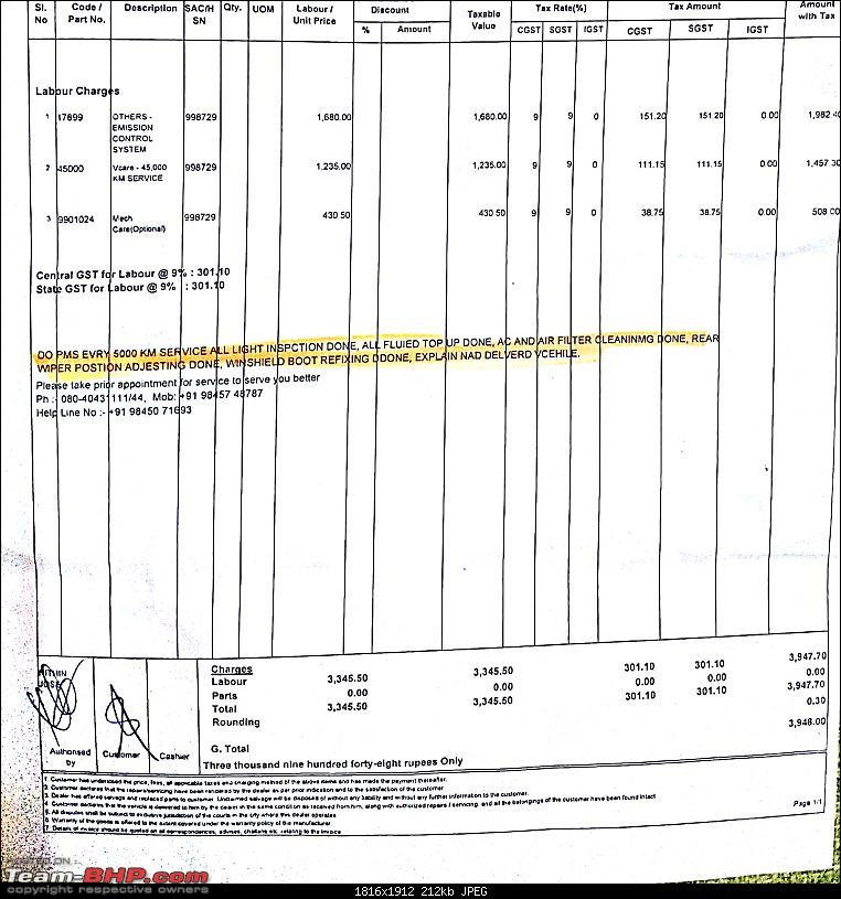Toyota Innova Crysta ownership report. EDIT: Engine replaced (page 9)-crysta-45k-service_2.jpg