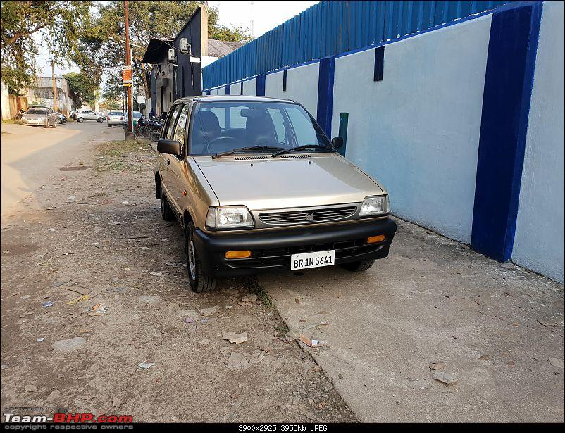The love of my life - A 2000 Maruti 800 DX 5-Speed. EDIT: Gets export model features on Pg 27-20180924_164757.jpg