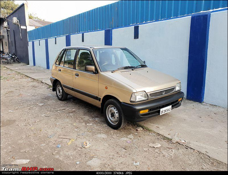 The love of my life - A 2000 Maruti 800 DX 5-Speed. EDIT: Gets export model features on Pg 27-20180924_164805.jpg
