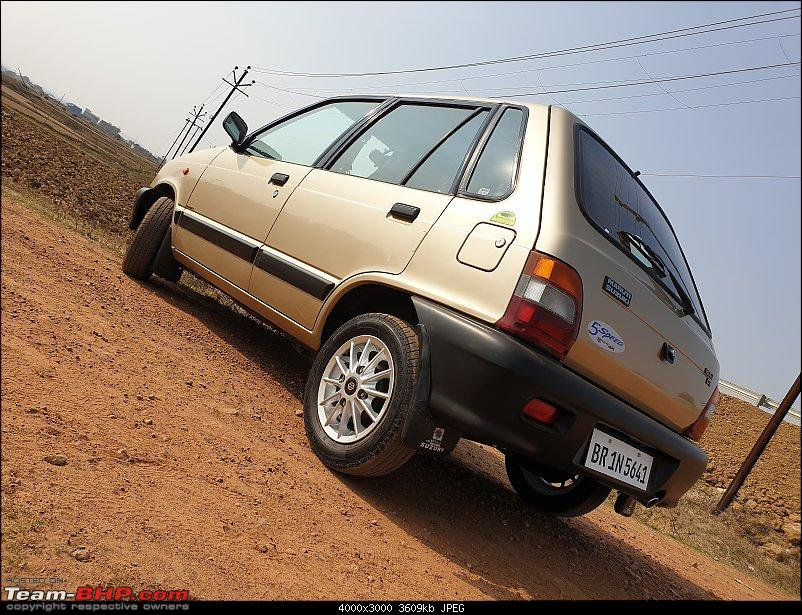 The love of my life - A 2000 Maruti 800 DX 5-Speed. EDIT: Gets export model features on Pg 27-20190206_142134.jpg