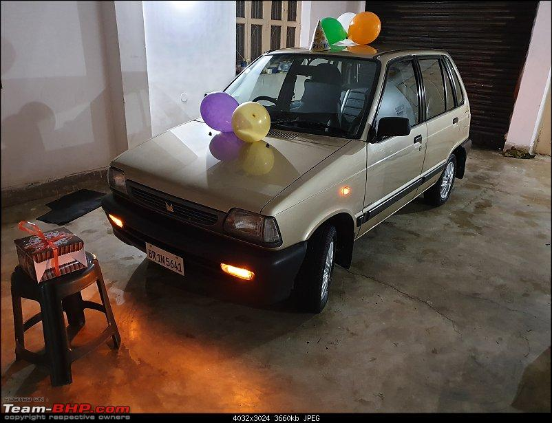 The love of my life - A 2000 Maruti 800 DX 5-Speed. EDIT: Gets export model features on Pg 27-20190324_184116.jpg