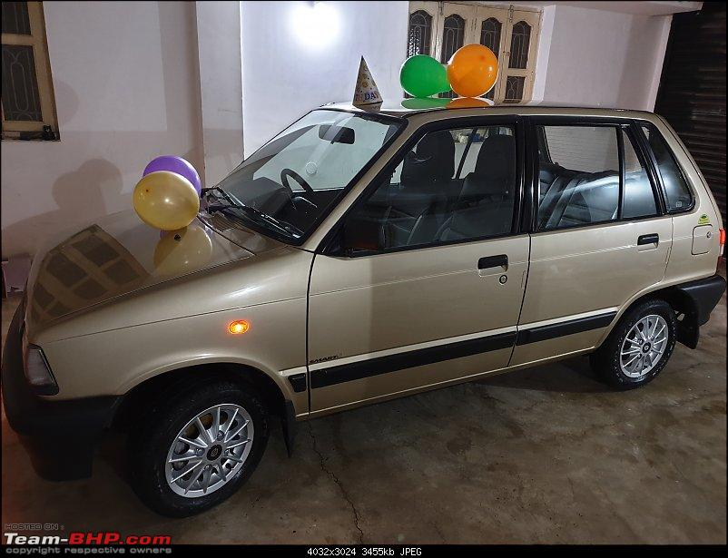 The love of my life - A 2000 Maruti 800 DX 5-Speed. EDIT: Gets export model features on Pg 27-20190324_184701.jpg