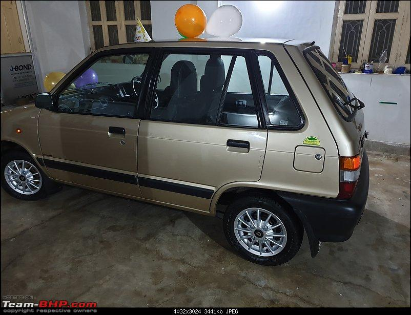 The love of my life - A 2000 Maruti 800 DX 5-Speed. EDIT: Gets export model features on Pg 27-20190324_184712.jpg