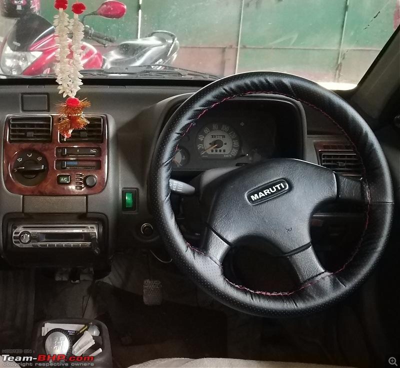 The love of my life - A 2000 Maruti 800 DX 5-Speed. EDIT: Gets export model features on Pg 27-zen-steering-wheel.jpg