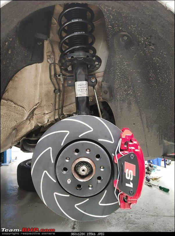 GT'ing around in my VW Polo TSI UPDATE: Blackworks Double-Divorced Coolant-Circuit.. MO POWAH BABEH!-06-brakes-installed.jpg