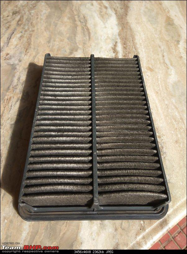 4,40,000 km on my 2006 Hyundai Elantra CRDi - And going strong!-img_20190817_091319-old-air-filter.jpg