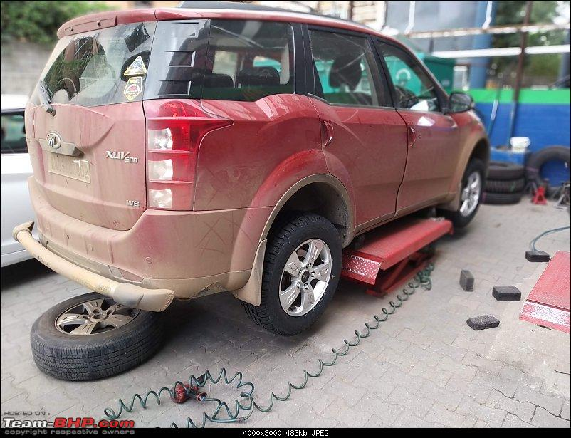 Optimus Prime - Tuscan Red Mahindra XUV5OO W8 ownership report-img_20190824_124038.jpg