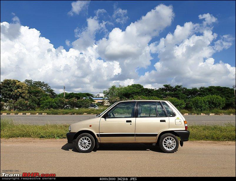 The love of my life - A 2000 Maruti 800 DX 5-Speed. EDIT: Gets export model features on Pg 27-20190920_144305.jpg