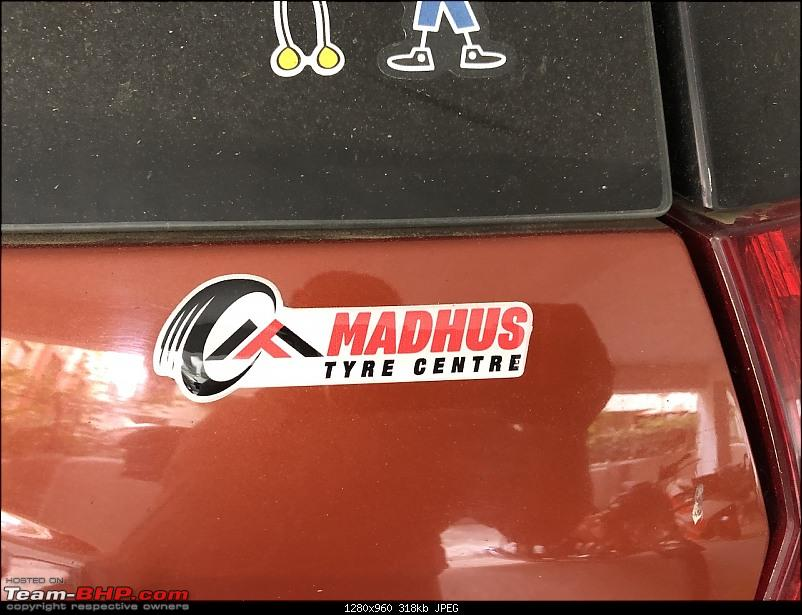 Ownership tales of Orange Cheetah, my 2015 Mahindra XUV5OO W10 FWD - 140,000 km and going strong!-madhuslabel.jpg