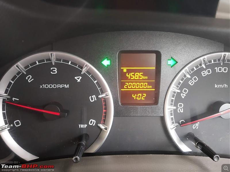 Tallboy welcomes longer companion: Maruti Ertiga VDi - The 200,000 Km update!-01-200000-odo.jpg