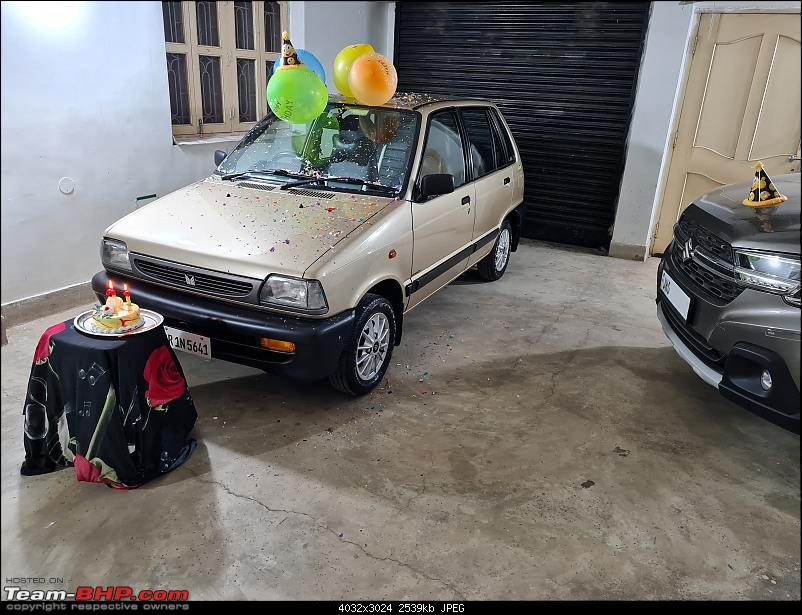 The love of my life - A 2000 Maruti 800 DX 5-Speed. EDIT: Gets export model features on Pg 27-20210324_195625.jpg