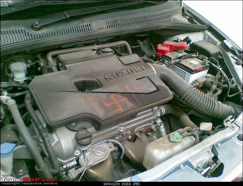I bought a car that no one is buying! Maruti SX4 with factory-fit CNG!-dirty-engine-bay.jpg