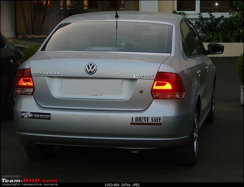VW Vento Highline TDi, My Silver Streak - 29K km second service completed-team-bhp-night-time-back.jpg