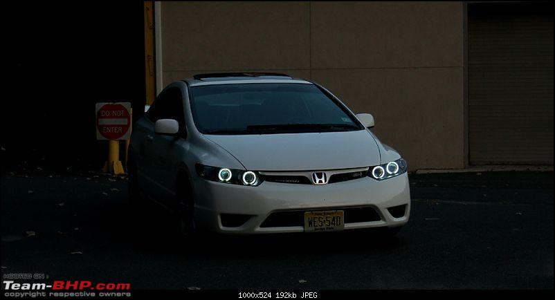 My Grey Shark: Honda Civic V-MT. 142,500 kms crunched. EDIT: Sold!-quad8th12.jpg These doesn't look like Angel eyes, they look like King Cobra Eyes ... KILLER LOOKS ... I love them. <br /> <br /> Ohh .. by the way I have added DRL(Day running Lights for my CIVIC), I don't have a pic of my car as of now, This is how they look , but not as long as these one's slightly shorter one's with 8 Led's. They look good too.<br /> <img src=