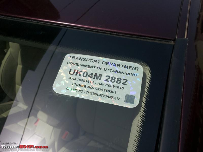 Name:  Skoda Superb HSRP Sticker.jpg