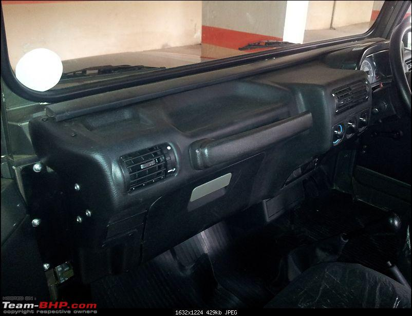 Call of the wild - Mahindra Thar CRDe-dashboard-closeup.jpg