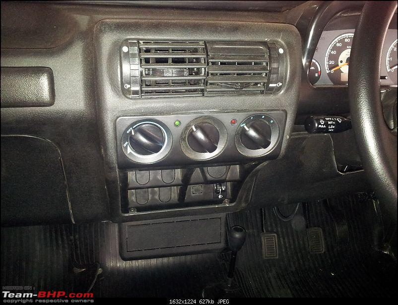 Call of the wild - Mahindra Thar CRDe-air-con-controls-closeup.jpg