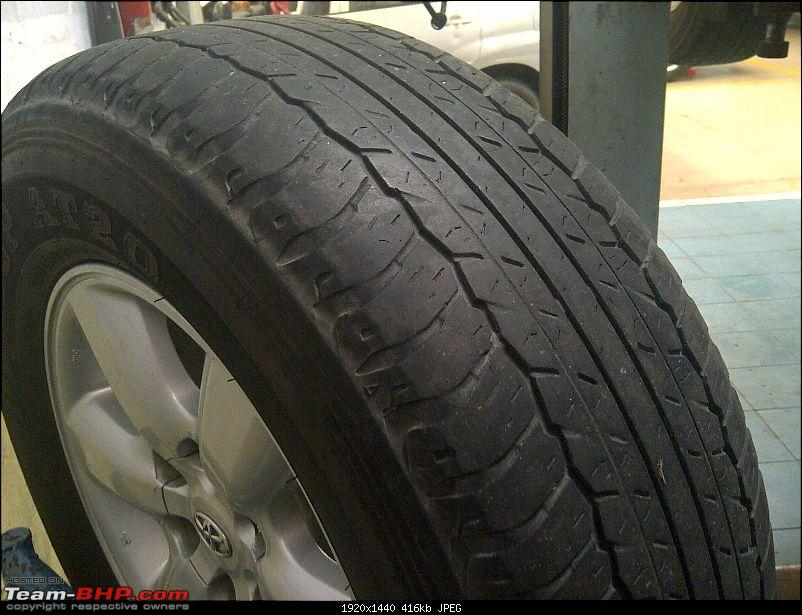 Obelix, the Invincible Toyota Fortuner! 1,67,000 km and going strong!-img2012071300762-front-right-tyre-wear.jpg