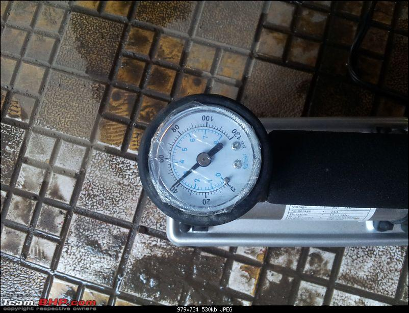 Tyre pressure gauge and portable inflator pump / foot pump-20131113_081340.jpg