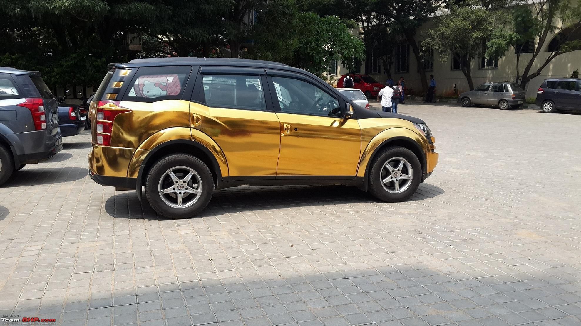 Gold And Chrome Wrapped Cars From Mahindra Xuv500 To Vw