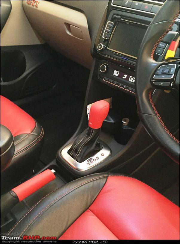 My VW Polo GT TSI - Modified-red-gear-n-handbreak-cover.jpg