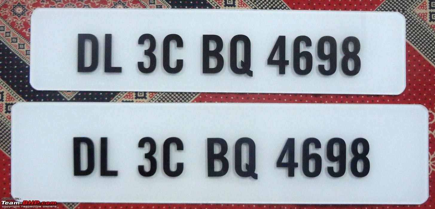 Your favourite number-plate font - Team-BHP