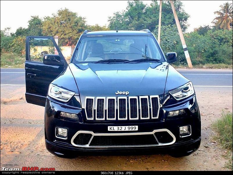 PICS : Tastefully Modified Cars in India-mahindratuv300frontmodifiedtojeepcherokee.jpg