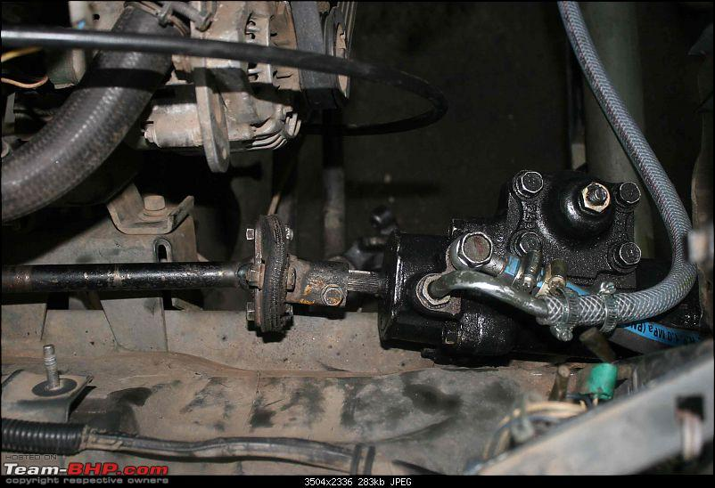 Power steering for Gypsy.-koyo-steering-box-installation-done.jpg
