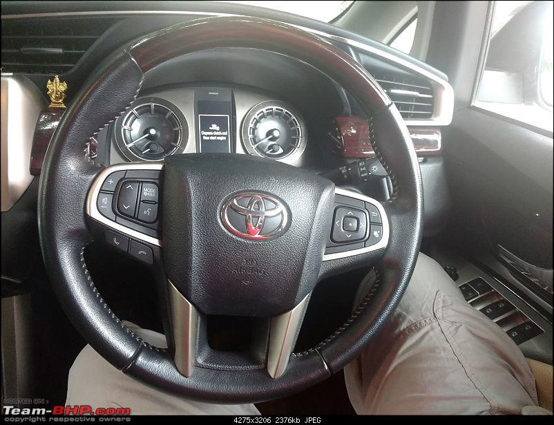 Bad experience with Stanley Leather. Work pending on my Innova Crysta...they aren't responding!-steering-wheel1.jpg