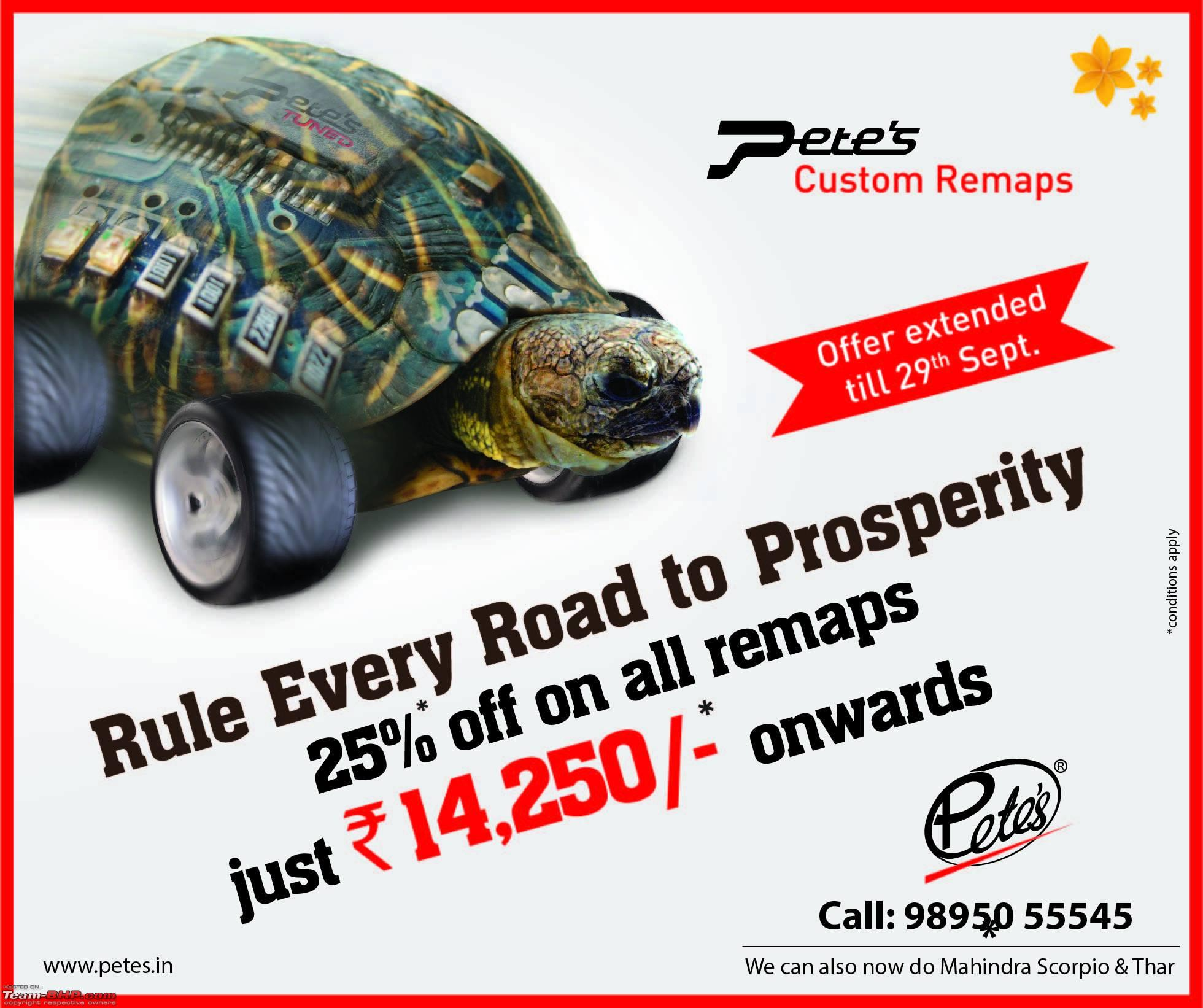 Petes : 30% off on Stage 1 Remaps - Page 3 - Team-BHP