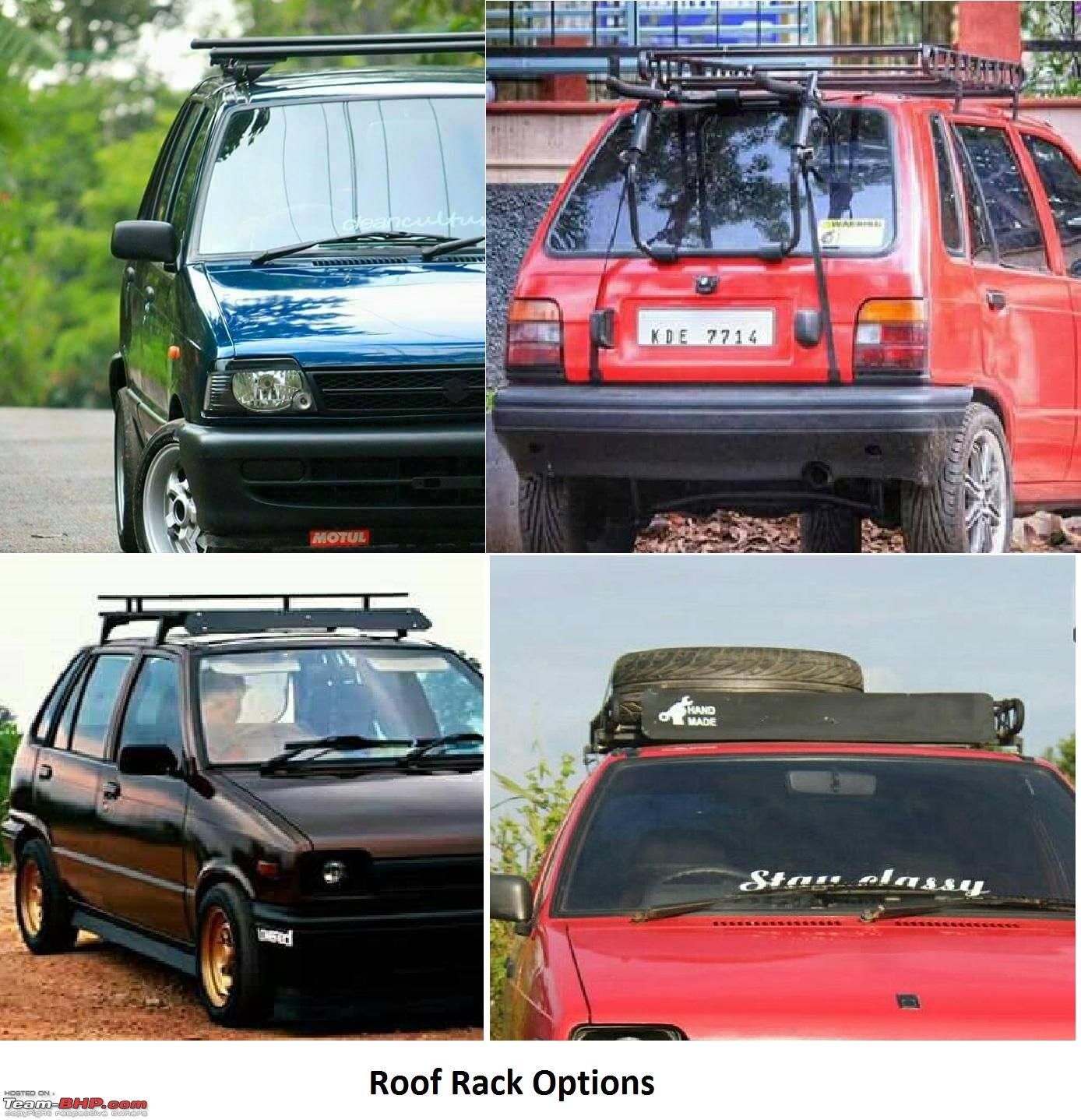 Maruti 800 modification assistance required roof rack jpg