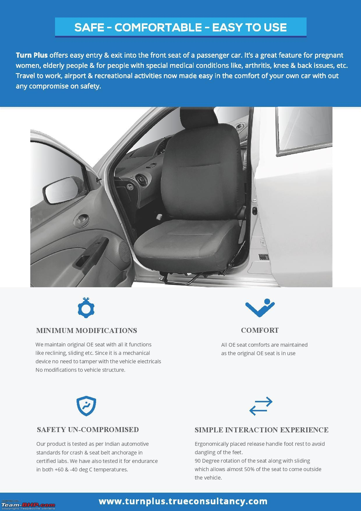 Turnplus A Car Seat That Allows Easy Ingress Egress For The