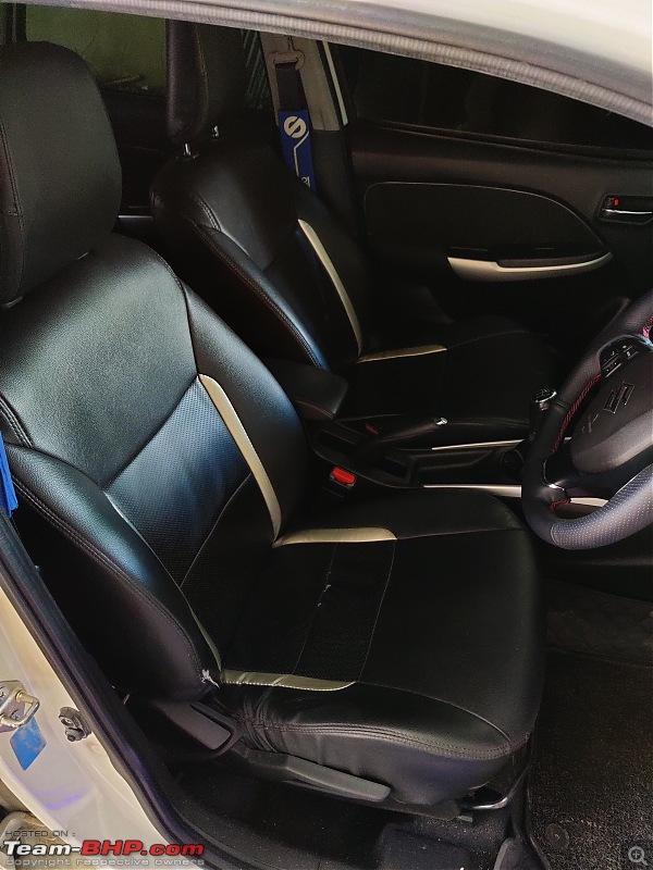 Modification Diaries | Maruti Baleno Zeta | Remap, lowering springs, exhaust, audio upgrade & more-seat-covers.jpg