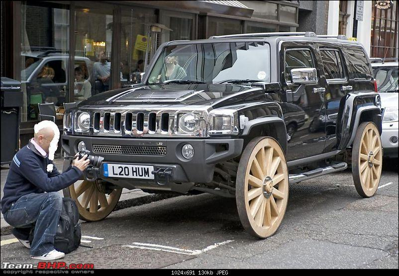 Pics of weird and wacky mod jobs!-hummerh3woodenwheels.jpg