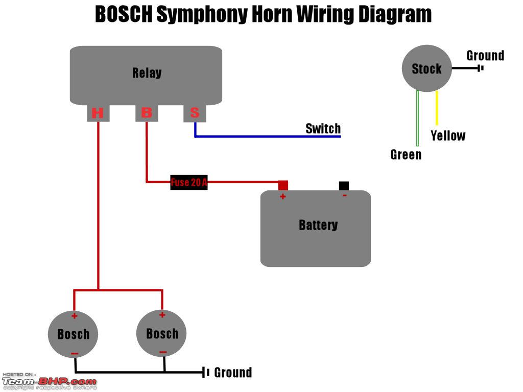 Horn Wiring Diagram With Relay : Power horns page team bhp