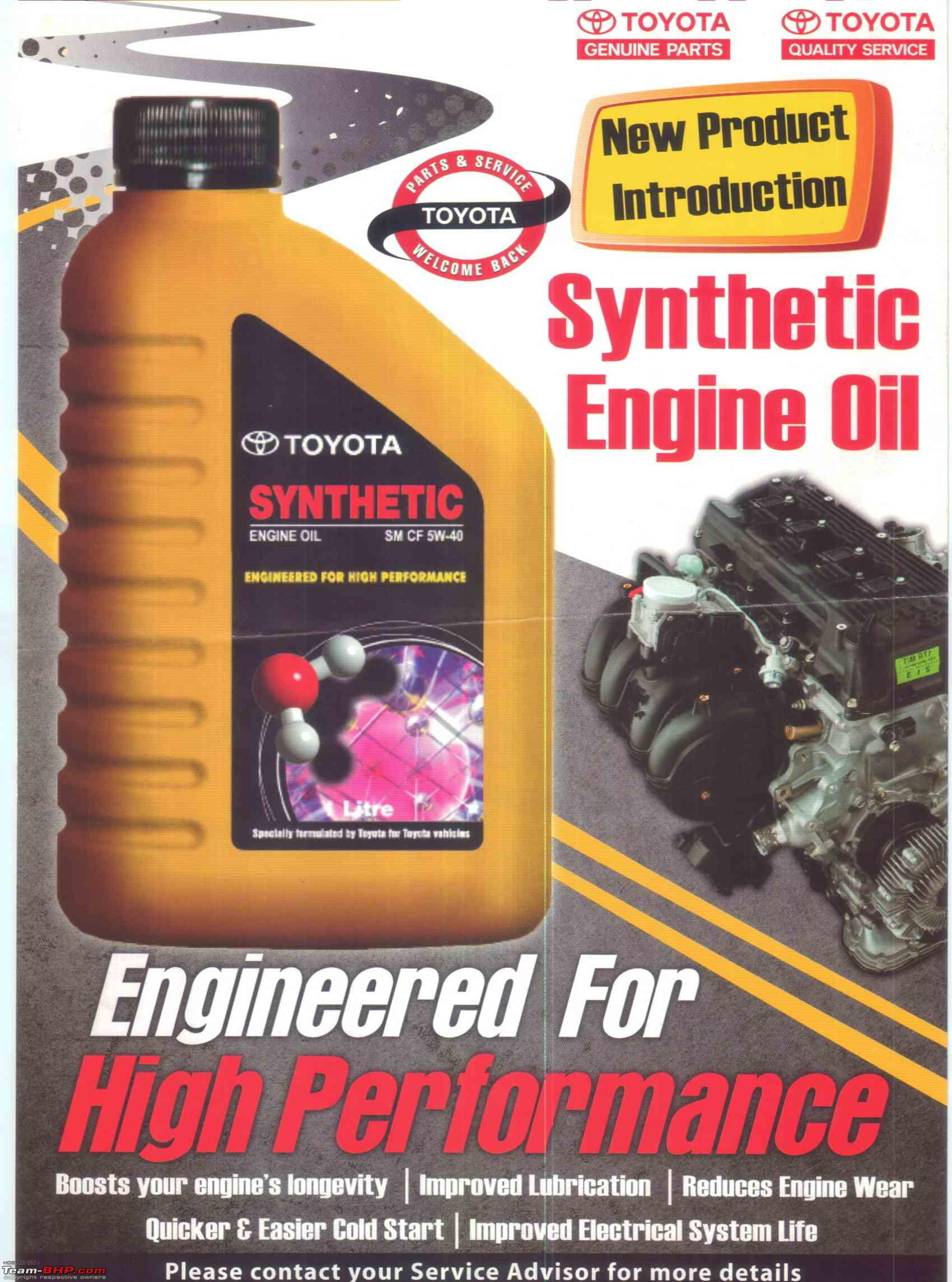 ARTICLE Synthetic oil vs Mineral oil Page 215 Team BHP