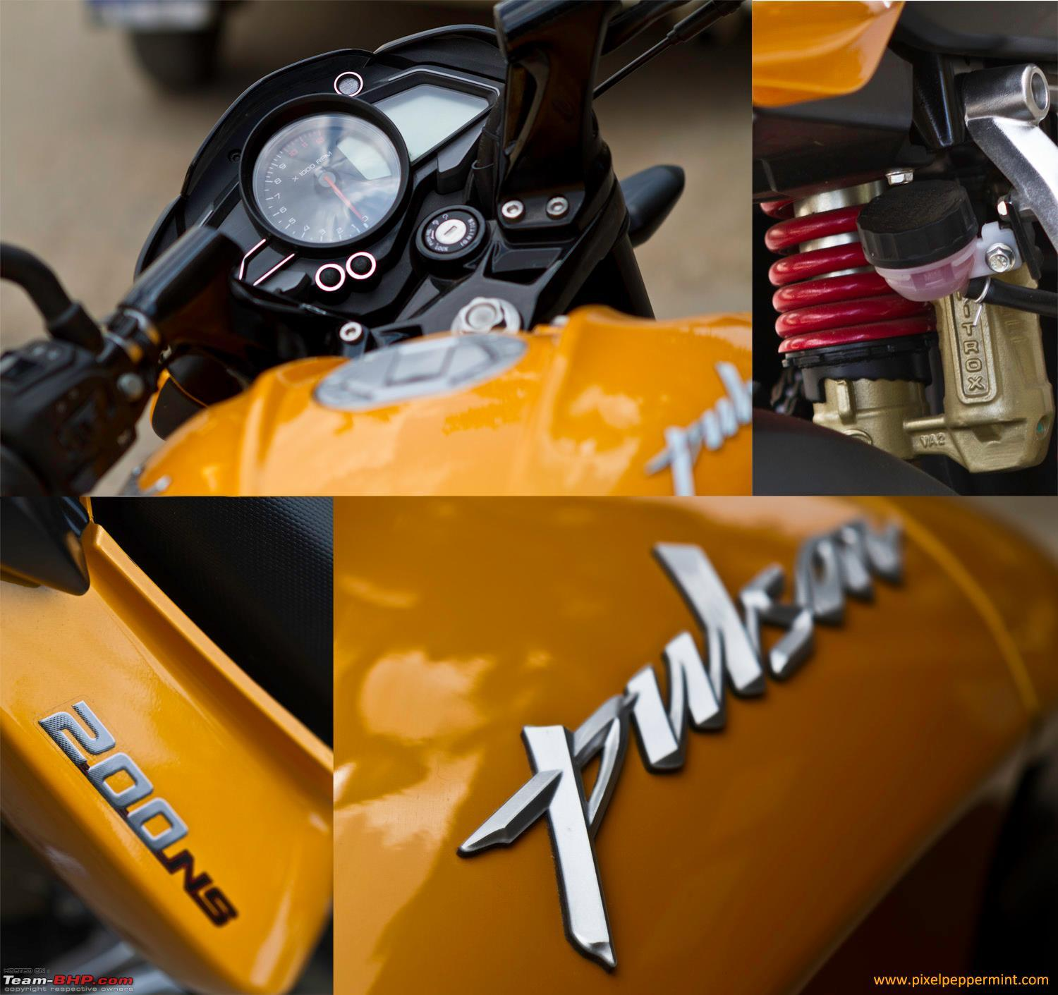Bike stickering designs for pulsar 150 - Bajaj Pulsar 200 Ns Ownership Review 2200 Kms Collage Jpg