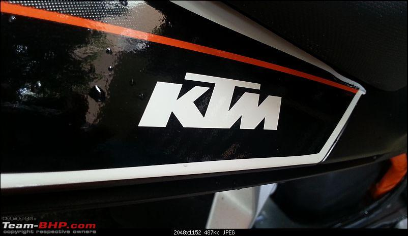 My Flamberge (KTM Duke 390) Ownership report - A middle aged man's perspective-20131008_074012.jpg