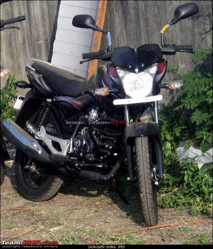 Bajaj Discover 125 M commuter motorcycle spotted at a dealership-2013-bajaj-discover-100-m-spyshot-1.jpg