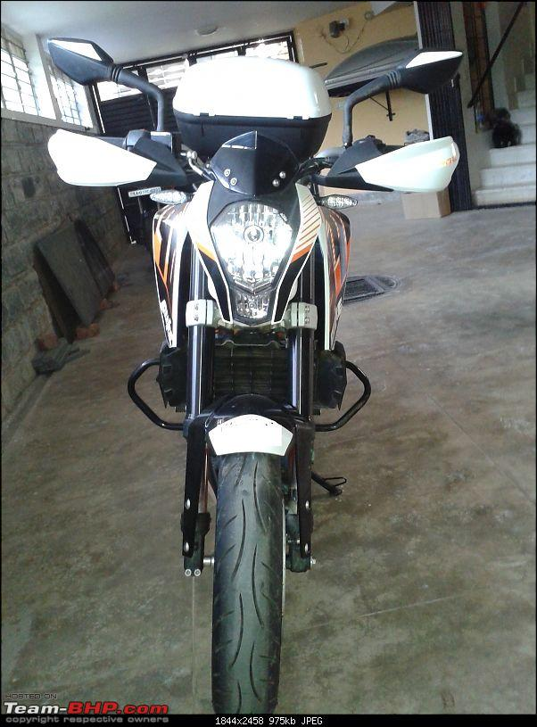 My Flamberge (KTM Duke 390) Ownership report - A middle aged man's perspective-flamberge-head-box20131114_083909.jpg