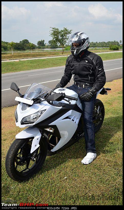 My Fair Lady : The Kawasaki Ninja 300 - Pearl Stardust White-dsc_0377.jpg