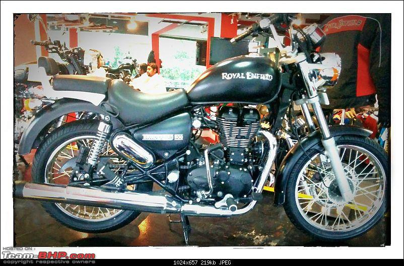 My foray into the biking world - Royal Enfield Thunderbird 500. EDIT: Charger DIY too-displaymodelretb500stone.jpg