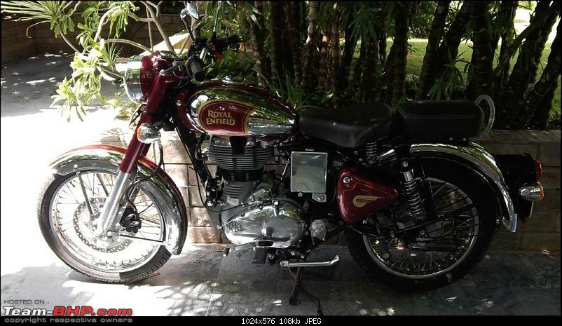 "RE Classic Chrome 500 (12,500kms Done):The ""Maroon Marauder"" THUMP's home!!-img_20140820_114555.jpg"