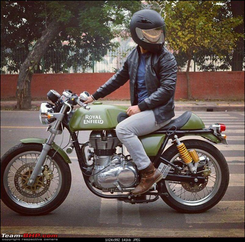 Royal Enfield Cafe Racer spotted testing. Edit: Now launched as Continental GT. Pg 10-1421388354626.jpg