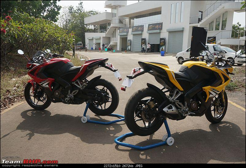 Report, Pics &amp; Video: Bajaj Pulsar RS200 ridden at the factory test-track-65pulsar.jpg <br /> Since then, what followed, was a bombardment of spy shots of a similarly styled test mule, which was promptly labelled the SS400. This was then switched over to the SS200, before the bike was finally confirmed as the &#8220;Race Sport&#8221; or RS200. Bajaj launched the RS200 on March 26th at Rs. 1.18 Lakh for the non-ABS version and Rs. 1.30 Lakh for the ABS variant.<br /> <br /> The RS200's styling has a lot going on. Looks are guaranteed to polarize opinions:<br /> <a href=